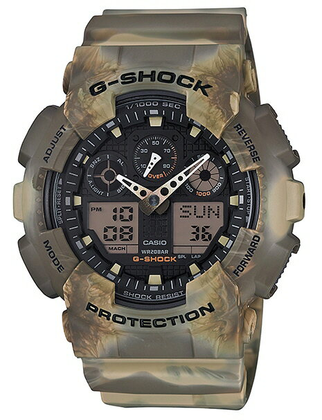 【G-SHOCK腕時計】CASIO カモフラージュシリーズ GA-100MM-5AJF【142】 【送料無料※北海道沖縄離島除く】
