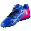 【サッカージュニアトレーニングシューズ】adidas(アディダス)エックス 16.4 TF J ベルクロBY2943【350】