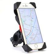 【送料無料】hanano 自転車 バイク 用 ダイヤル式 スマートフォンホルダー バー マウント 多機種対応 USB 充電 タイプ等 全6タイプ + スマホスタンド セット(スタンダートタイプ)