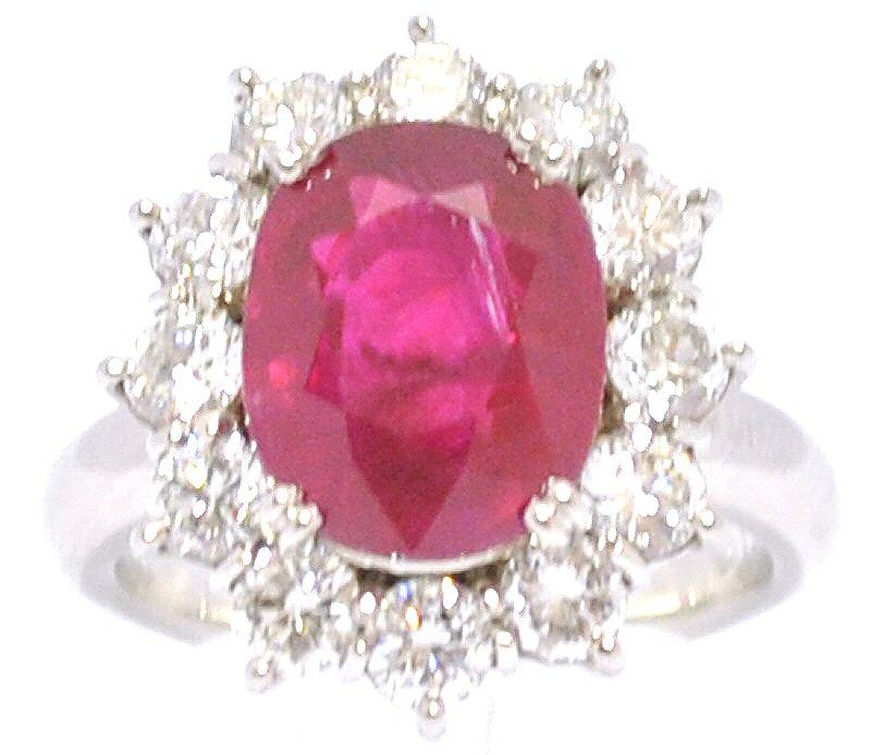 【中古】【ジュエリー】ルビー ダイヤモンド リング 指輪 Pt900 プラチナ #13【u】【Blumin 楽天市場店】