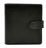 【財布】LOUIS VUITTON ルイ ヴィトン エピ ポルト ビエ コンパクト 2つ折財布 ノワール 黒 ブラック M63552【中古】【k】【Blumin 楽天市場店】