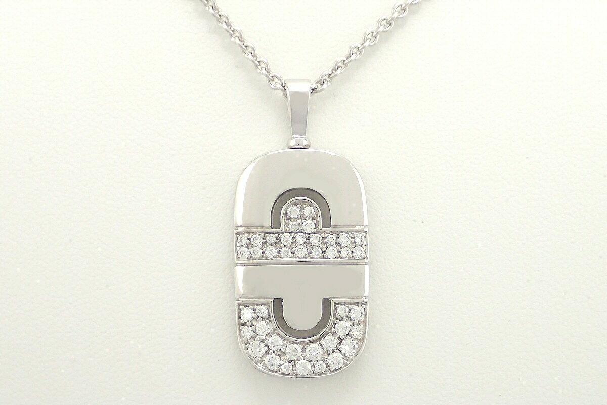 【ジュエリー】【新品仕上げ済】BVLGARI ブルガリ パレンテシ ネックレス K18WG 750WG ホワイトゴールド ダイヤモンド パヴェ【】【u】【Blumin 店】 【プロモーション】