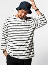 【SALE/30%OFF】B:MING by BEAMS 【OCEANS1月号掲載】ビーミング by ビームス / パイルボーダー7分袖Tシャツ BEAMS ビ...