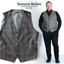 【送料無料】【大きいサイズ】【メンズ】SARTORIA BELLINI チェック柄ベスト【秋冬新作】azvst-1607