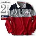 【送料無料】【大きいサイズ】【メンズ】DANIEL DODD ピーチ加工切替ラガーシャツ(SKI CLUB) azpr-1504235