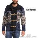 【送料無料】【大きいサイズ】【メンズ】[XXL・3XL]DESIGUAL(デシグアル) トグル付セーター(Indigo Degradado) 48j1120