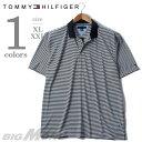 【大きいサイズ】【メンズ】[XL・XXL]TOMMY HILLFIGER(トミーヒルフィガー) ボーダー半袖ポロシャツ【USA直輸入】 7770