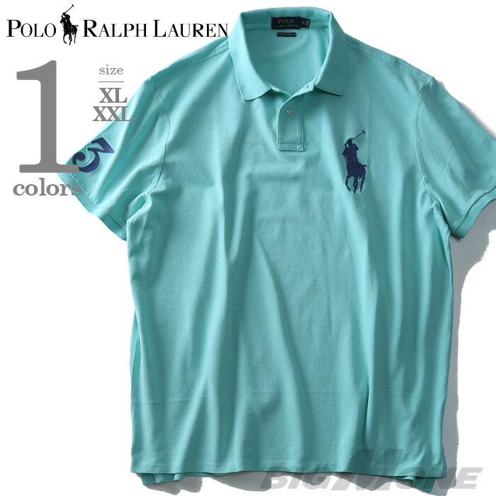 【大きいサイズ】【メンズ】POLO RALPH LAUREN(ポロ ラルフローレン) 半袖ビッグポニー鹿の子ポロシャツ【USA直輸入】710697457004