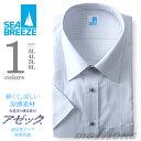 ショッピング半額 【2点目半額】SEA BREEZE(シーブリーズ) 半袖ワイシャツ 大きいサイズ メンズ レギュラー ワイドカラー 形態安定 ehcb26-73