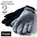【大きいサイズ】【メンズ】DANIEL DODD Thinsulate ライン入りグローブ【手袋】azgl-16dd02