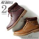 【大きいサイズ】【メンズ】AZ DEUX リブ付ミドルカットワークブーツ azsn-169007