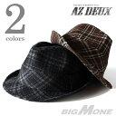 大きいサイズ メンズ [F][60〜64cm]AZ DEUX チェック柄ハット【帽子】azcp-134
