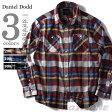【送料無料】【大きいサイズ】【メンズ】DANIEL DODD 長袖フランネルチェックレギュラーシャツ azsh-150402
