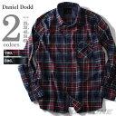 【送料無料】【大きいサイズ】【メンズ】DANIEL DODD 長袖フランネルチェックシャツ azsh-150406