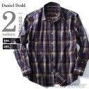 大きいサイズ メンズ DANIEL DODD 長袖起毛チェック柄レギュラーカラーシャツ azsh-160402