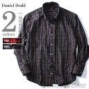 【送料無料】【大きいサイズ】【メンズ】DANIEL DODD 長袖先染めチェックボタンダウンシャツ【秋冬新作】azsh-160403【10P03Dec16】