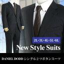 【大きいサイズ】【メンズ】[2L・3L・4L・5L・6L]DANIEL DODD 2釦スーツ 黒柄 z219524-01
