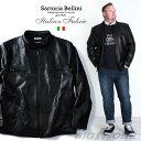 【送料無料】【大きいサイズ】【メンズ】SARTORIA BELLINI ラムレザー シングルライダースジャケット【秋冬新作】azle-502【10P03Dec16】