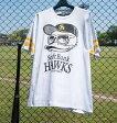 【大きいサイズ】【メンズ】 b-one-soul 福岡ソフトバンクホークス×DUCK DUDE半袖Tシャツ ホワイト 1178-6275-1 3L・4L・5L・6L]