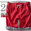 【送料無料】【大きいサイズ】【メンズ】DANIEL DODD 麻混スピンドル使いショートパンツ azsp-1415