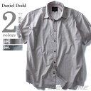 【送料無料】【大きいサイズ】【メンズ】DANIEL DODD 半袖千鳥柄プリントシャツ azsh-160233