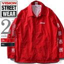 【大きいサイズ】【メンズ】VISION STREET WEAR バックプリント付コートジャケット 8704102