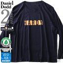 ショッピングTシャツ 大きいサイズ メンズ DANIEL DODD オーガニックコットン プリント ロング Tシャツ HARDY azt-190401
