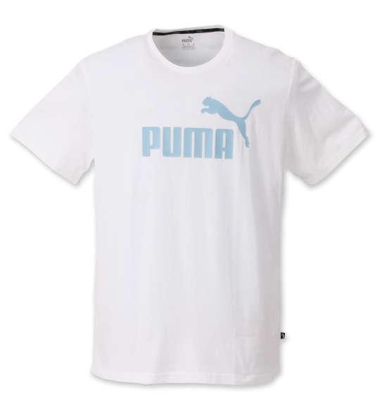 大きいサイズ メンズ PUMA エッセンシャル ロゴ 半袖 Tシャツ プーマホワイト 1278-0260-1 2XL 3XL 4XL 5XL 6XL