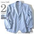 【送料無料】【大きいサイズ】【メンズ】SARTORIA BELLINI 麻混ストライプシャツジャケット azjjo-02【10P27May16】