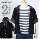 【送料無料】【大きいサイズ】【メンズ】DANIEL DODD 7分袖マリンパーカー azcj-160164