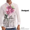 【送料無料】【大きいサイズ】【メンズ】[XL・XXL・3XL]DESIGUAL(デシグアル) カジュアルシャツ(Ciudad Flores) 42c1280