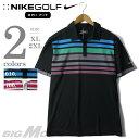 【大きいサイズ】【メンズ】[XL・2XL]NIKE GOLF(ナイキ ゴルフ) 半袖デザインポロシャツ DRI-FIT【USA直輸入】481810