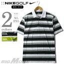 【大きいサイズ】【メンズ】[XL・2XL]NIKE GOLF(ナイキ ゴルフ) 半袖ボーダーポロシャツ DRI-FIT【USA直輸入】479992