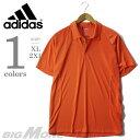 【大きいサイズ】【メンズ】[XL・2XL]ADIDAS(アディダス) 無地半袖ポロシャツ COOLMAX【USA直輸入】w47035