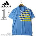 【大きいサイズ】【メンズ】[XL・2XL]ADIDAS(アディダス) 半袖デザインポロシャツ【USA直輸入】w47410