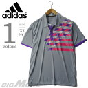 【大きいサイズ】【メンズ】[XL・2XL]ADIDAS(アディダス) 半袖デザインポロシャツ【USA直輸入】w47408