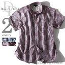 【大きいサイズ】【メンズ】[3L・4L・5L・6L]DANIEL DODD パッチワーク風チェックシャツ【春夏新作】azsh-14s10