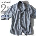 【送料無料】【大きいサイズ】【メンズ】DANIEL DODD 半袖先染めストライプレギュラーシャツ azsh-150245