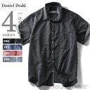 【送料無料】【大きいサイズ】【メンズ】DANIEL DOOD 半袖綿麻レギュラーカラーシャツ azsh-150252