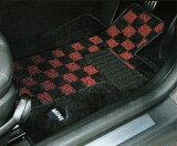 """【送料無料】【BMW MINI 純正】MINI フロアマット MINI R56(ハッチバック) フロアマット・セット """"シャギー・チェック""""( ブラック/レッド) 【smtb-F】"""