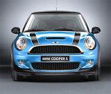 【BMW MINI 純正パーツ】BMW MINI アクセサリー MINI R56 (クーペ後期) COOPER-S エンジンフード?ストライプ?セット ホワイト&ブラック