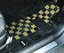"【BMW MINI 純正】【送料無料】MINI F55(5 DOOR)用 フロアマット・セット ""シャギー・チェック""(ブラック/イエロー)"