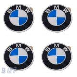 【BMW純正】BMW エンブレム BMW ホィールキャップバッジ 45mm 4枚セット