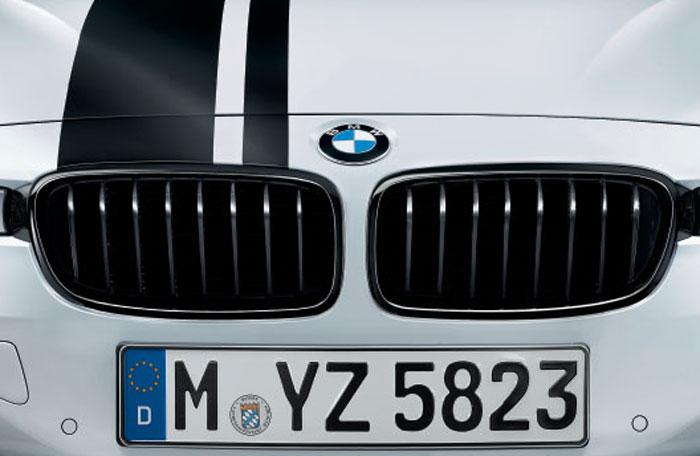 【BMW純正】BMW F30 F31 3シリーズ BMW M Performance ブラック・キドニー・グリル セット