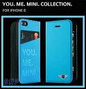 BMW MINI iPhone6 iPhone6s ケース YOU ME MINI ブックタイプ レザーケース ブルー MNFLBKP6YMMEB 931254