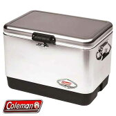 ■COLEMAN■54QT■STAINLESS■STEEL BELTED COOLER■コールマン■ステンレスフィニッシュ■スチールベルトクーラー■ P20Aug16