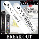 【送料無料】【あす楽対応】15-16 TECHNINE / テックナイン WOMENS FEATHER オールマウンテン レディース スノーボード 板 2016 型落ち align=