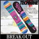 【送料無料】【あす楽対応】15-16 TECHNINE / テックナイン WOMENS SKULL オールマウンテン レディース スノーボード 板 2016 型落ち align=