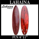 サーフボード ラハイナ / LAHAINA 6'11 ファンボード ワインレッド 初心者から中上級者まで