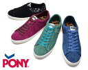 [SALE]PONY・ポニー・メンズ・ローカットスニーカー・ローテク・スエード・スニーカー・PONY・モノトーン・紳士・レディース・メンズ・ユニセックス・ブラック・ブルー・バーガンディー・グリーン